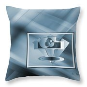 Blue Series #2 Throw Pillow