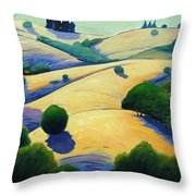 Blue Shadows Of Sunset Throw Pillow
