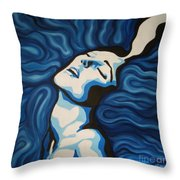 Blue Shimmers Throw Pillow