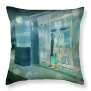 Blue Shopper Throw Pillow