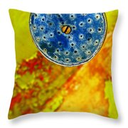 Blue Shower Head Throw Pillow by Skip Hunt