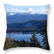 Blue Sierra Lake Throw Pillow