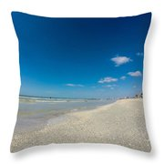 Blue Skies And Soft Sand Throw Pillow