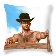 Blue Skies Throw Pillow