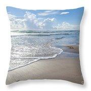 Blue Skies South Padre Island Texas Throw Pillow