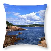 Blue Skies In Maine Throw Pillow