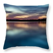 Blue Skies Of Reflection Throw Pillow