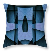 Blue Skull Throw Pillow