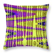Blue Sky And Color Squares Abstract,#4 Throw Pillow