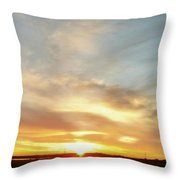 Blue Sky And Sunrise Throw Pillow