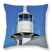 Blue Sky At The Lighthouse Throw Pillow
