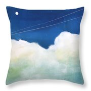 Blue Sky Birds Throw Pillow