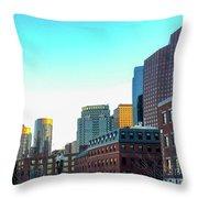 Blue Sky Boston Throw Pillow