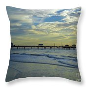 Blue Sky Clearwater Pier 60 Throw Pillow