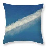 Blue Sky Contrail  Throw Pillow