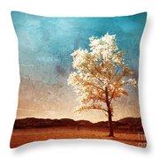 Blue Sky Dreams Throw Pillow