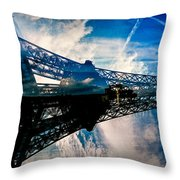 Blue Sky In Paris  Throw Pillow