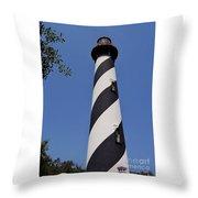Blue - Sky - Lighthouse Throw Pillow