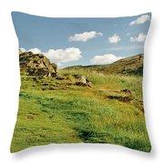 Blue Sky Of Holyrood Walk. Throw Pillow