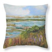 Blue Sky Over Fort Hill Throw Pillow