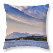 Blue Sky Over The Bay Throw Pillow