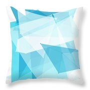 Blue Sky Polygon Pattern Throw Pillow