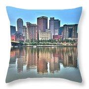 Blue Sky Reflecting Water Throw Pillow