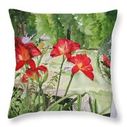Blue Sky Reflections Throw Pillow