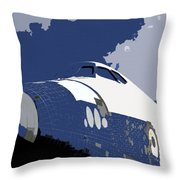 Blue Sky Shuttle Throw Pillow by David Lee Thompson