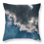 Blue Sky Solar Eclipse Throw Pillow