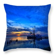 Blue Sky Sunset Throw Pillow