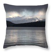 Blue Sky Through Dark Clouds Throw Pillow