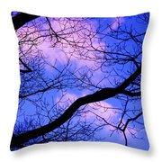 Blue Sky Through The Trees Throw Pillow