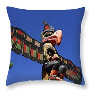 Blue Sky Totem Throw Pillow