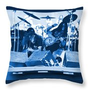 Blue Skynyrd Smoke Throw Pillow