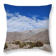 Blue Skys Over The Sandias Throw Pillow