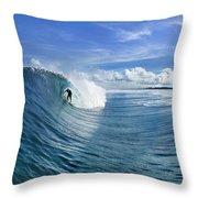 Blue Sling Throw Pillow