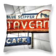 Blue Slipper Throw Pillow