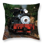 Blue Smoke Blowing Throw Pillow
