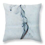 Blue Smoke Trail  Throw Pillow