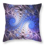 Blue Snails Throw Pillow