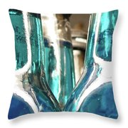 Blue Soda Abstract Throw Pillow
