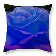 Blue Softness Throw Pillow