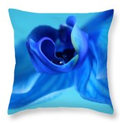 Blue Solitude Throw Pillow