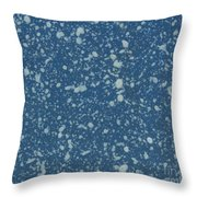 Blue Speckle Throw Pillow