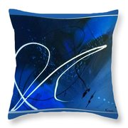 Blue Speed Throw Pillow
