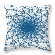 Blue Spins Throw Pillow