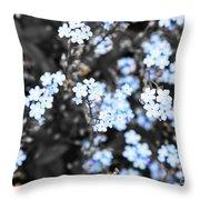 Blue Spring V2 Throw Pillow
