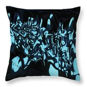 Blue Sprout 3 Throw Pillow