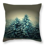 Blue Spruce-maine Evergreens Throw Pillow
